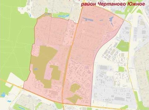 Район Чертаново Южное на карте, эвакуатор