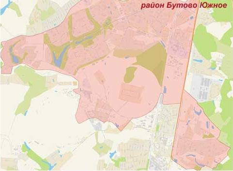 Район Бутово Южное на карте, эвакуатор