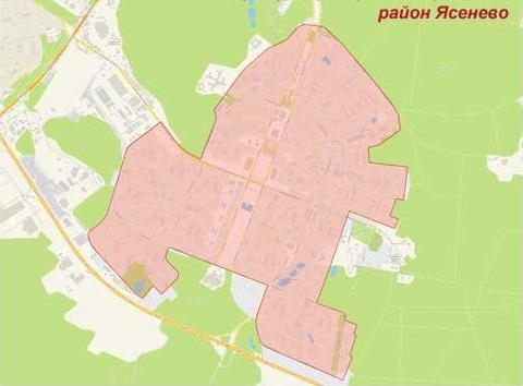 Район Ясенево на карте, эвакуатор